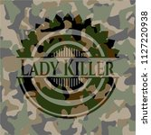 lady killer on camouflaged... | Shutterstock .eps vector #1127220938