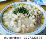 patasca  soup made with hardy... | Shutterstock . vector #1127223878