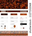 dark orange vector wireframe...