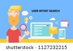 user intent search   search... | Shutterstock .eps vector #1127232215
