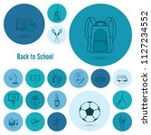 school and education icon set.... | Shutterstock .eps vector #1127234552