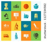 school and education icon set.... | Shutterstock .eps vector #1127234582