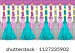 seamless border pattern ... | Shutterstock .eps vector #1127235902