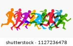 abstract colorful silhouette... | Shutterstock .eps vector #1127236478