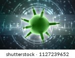 3d rendering viruses in... | Shutterstock . vector #1127239652