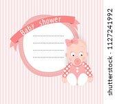 baby shower card | Shutterstock .eps vector #1127241992