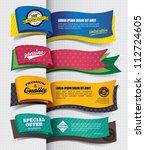 exclusive banner design | Shutterstock .eps vector #112724605