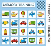 memory game for preschool... | Shutterstock .eps vector #1127256812