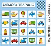 memory game for preschool...   Shutterstock .eps vector #1127256812