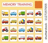 memory game for preschool... | Shutterstock .eps vector #1127257055