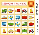 memory game for preschool... | Shutterstock .eps vector #1127257268