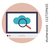 magnifier search cloud system... | Shutterstock .eps vector #1127259632