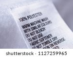 polyester fabric clothing label ... | Shutterstock . vector #1127259965