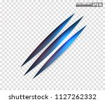 claws scratches   vector... | Shutterstock .eps vector #1127262332