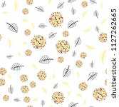 light orange vector seamless... | Shutterstock .eps vector #1127262665