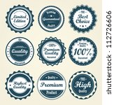 collection of labels. vector | Shutterstock .eps vector #112726606