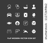 modern  simple vector icon set... | Shutterstock .eps vector #1127269862