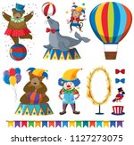 a set of circus animal show... | Shutterstock .eps vector #1127273075