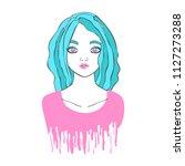 beautiful girl. multicolored... | Shutterstock .eps vector #1127273288