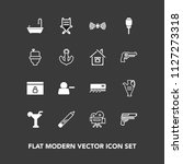 modern  simple vector icon set... | Shutterstock .eps vector #1127273318