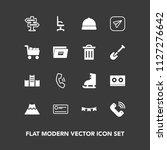 modern  simple vector icon set...   Shutterstock .eps vector #1127276642