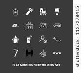 modern  simple vector icon set... | Shutterstock .eps vector #1127278415