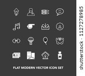 modern  simple vector icon set... | Shutterstock .eps vector #1127278985