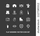 modern  simple vector icon set... | Shutterstock .eps vector #1127285312
