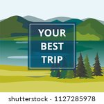 vacation and tourism. layers of ... | Shutterstock .eps vector #1127285978