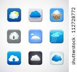cloud app icons | Shutterstock .eps vector #112728772
