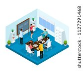 isometric learning process in... | Shutterstock .eps vector #1127291468