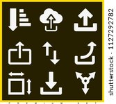 set of 9 arrows filled icons...   Shutterstock .eps vector #1127292782