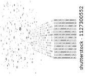 big data concept. binary matrix ... | Shutterstock .eps vector #1127300552