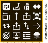 set of 16 arrows filled icons...   Shutterstock .eps vector #1127303732