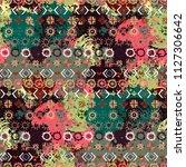ethnic boho seamless pattern.... | Shutterstock .eps vector #1127306642