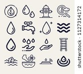 set of 16 water outline icons... | Shutterstock .eps vector #1127314172