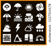 set of 16 weather filled icons...   Shutterstock .eps vector #1127314178