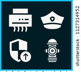 set of 4 security filled icons... | Shutterstock .eps vector #1127314952