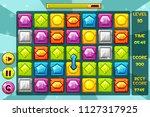 vector interface gems match3...