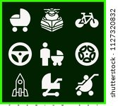 set of 9 transport filled icons ... | Shutterstock .eps vector #1127320832