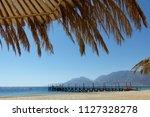 relaxing summer vacation... | Shutterstock . vector #1127328278