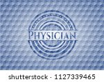 physician blue emblem with... | Shutterstock .eps vector #1127339465