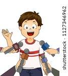 illustration of a kid boy... | Shutterstock .eps vector #1127346962