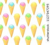 ice cream . vector seamless... | Shutterstock .eps vector #1127347295