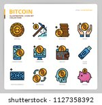 bitcoin icon set | Shutterstock .eps vector #1127358392
