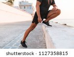 cropped photo of strong man 30s ... | Shutterstock . vector #1127358815