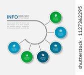 vector infographic template for ... | Shutterstock .eps vector #1127362295