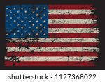 american flag.dirty flag of usa.... | Shutterstock .eps vector #1127368022