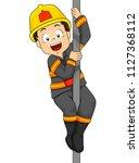 illustration of a kid boy... | Shutterstock .eps vector #1127368112