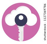 flat icon representing cloud...   Shutterstock .eps vector #1127369786
